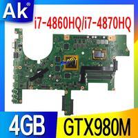G751JY ASUS G751JY G751JT G751JL G751J G751 Laptop anakart anakart i7-4860HQ / i7-4870HQ GTX980M/4GB