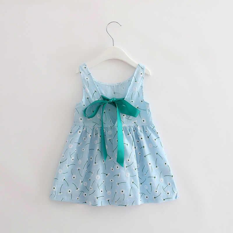 サマーガールドレス子供綿ノースリーブドレスチェリープリント子供ドレスの女の子服