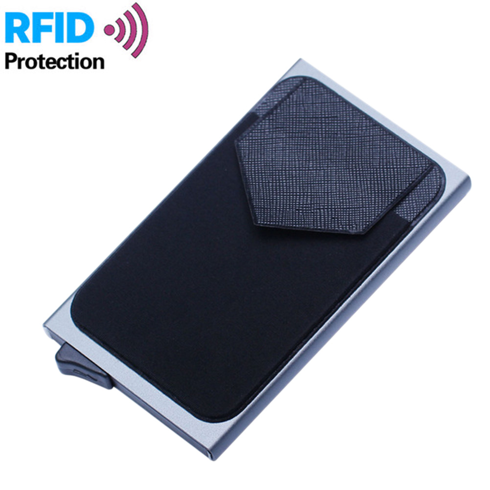 Slim Wallet Back-Pocket Mini Automatic Coin-Purse Credit-Card-Holder Business RFID Blocking