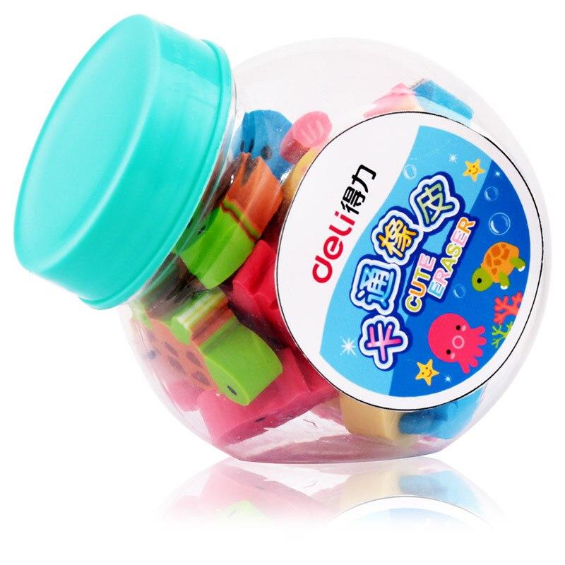 Deli 7533 Cute Cartoon Mini Rubber Eraser Children Rubber Correction Stationery Prize Incentives 20 Block/Tube