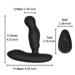 Image 3 - Electric Shock Pulse Man Prostate Massage Vibrators Sex Toy For Men Wireless Rotation Male Anal Butt Plug Stimulator Masturbator