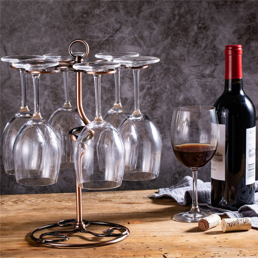 Modern Hanging Wine Glass Racks Holder Champagne Stemware Holder Wrought Iron Wine Rack Bar Wine Rack Glass Cup Holder