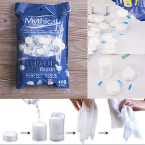 Hand-Face-Cleaner Compressed-Towel Magic-Tissue Disposable Travel Mini Cotton for Outdoor