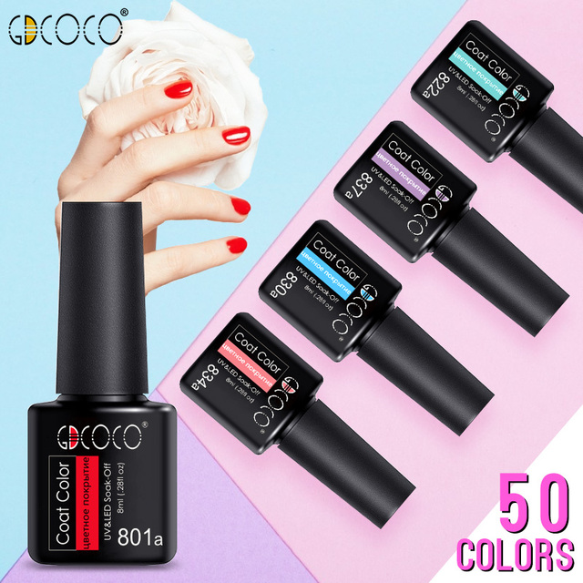 GDCOCO Nail Gel Varnish 8ml High Quality Nail Gel Polish Cheaper Price Plastic Bottle Bright Color Glitter Varnish Nail Gel 2