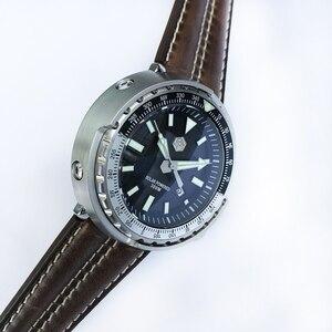 Image 4 - San Martin nowy tuńczyk SBDC035 zegarki ze stali nierdzewnej nurkowanie zegarki 30ATM VS37 zegarek kwarcowy dla kobiet mężczyzn