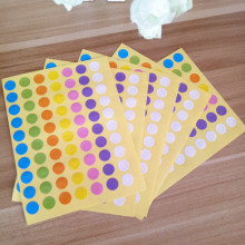 350pcs/pack Seven-color Small Circle Kraft Sticker Labels Kitchen Sweets Party Custom Stickers