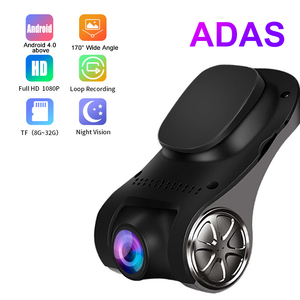 ADAS Ranging Function Car DVR Camera 1080P FHD Dash Cam Auto Video Recorder 170° Night Vision USB Car DVR For Android 4.0 Above