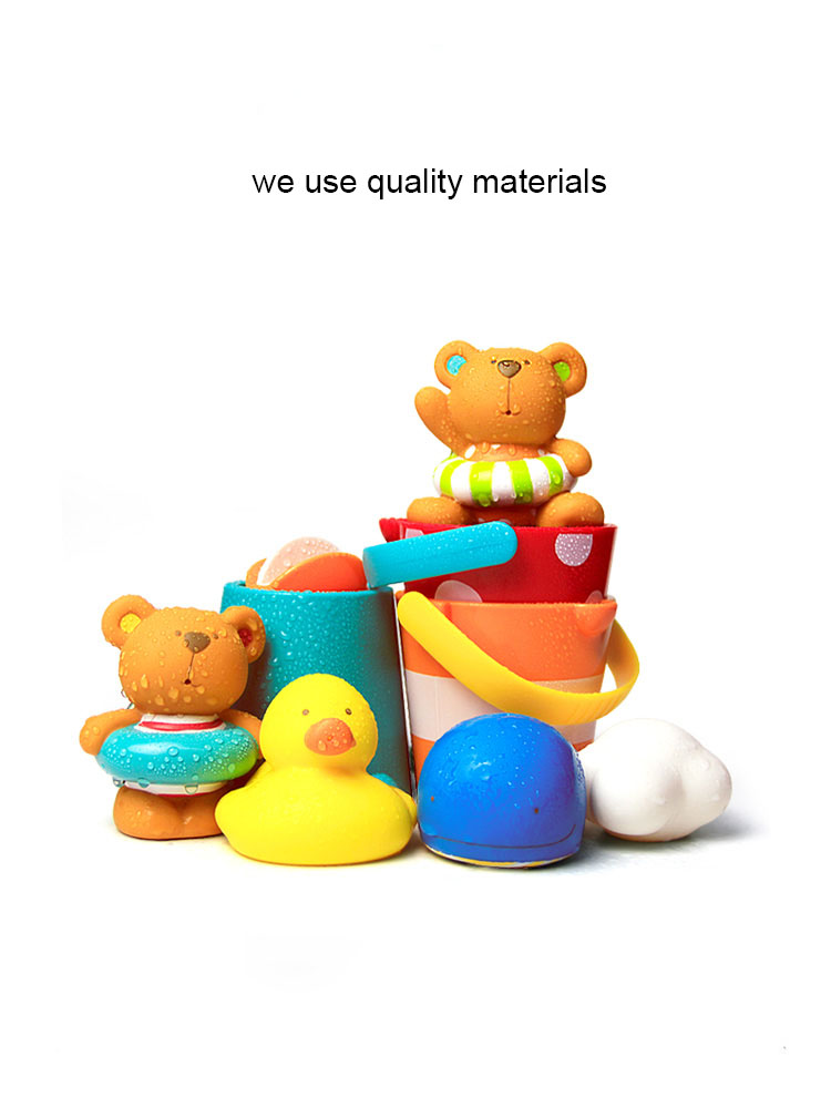 6 Months-3 Years Old Boys And Girls Bathing Toys Shower Floating Water Ducklings Play Suit