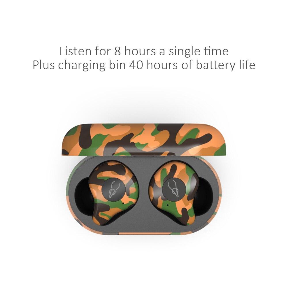 camuflagem binaural chamada música esportes sem fio