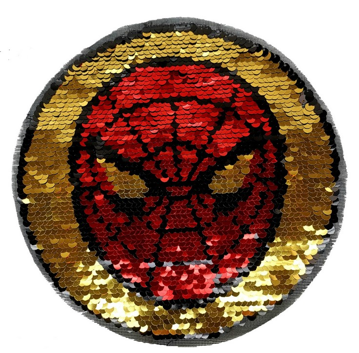 Computer Bead Embroidery Double-sided Flip Sequins Patch Applique Garment Accessories Football Spider-Man Cloth Sticker
