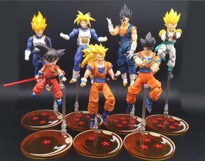 Image 5 - 7 stks/set dragon ball z exclusieve kleur stage Ondersteuning Stand Beugel voor 1/10 1/12