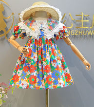 Платье принцессы с открытой спиной для маленьких девочек летнее