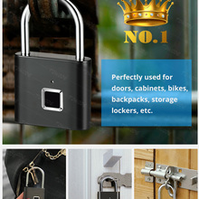 USB Door-Lock Fingerprint Metal Towode Rechargeable Keyless Quick Self-Developing-Chip