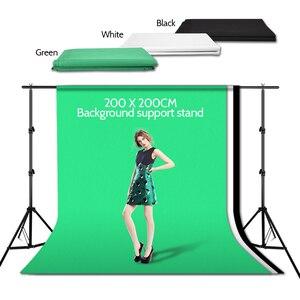 Image 5 - ZUOCHEN Foto Studio Hintergrund Unterstützung Stehen Kit 1.6*3m Schwarz Weiß Grün Bildschirm Hintergrund Set 2*2m Hintergrund Stehen Für Video