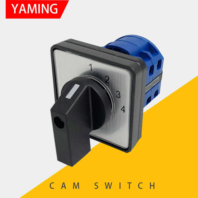 YMW26-20/2 Cam Switch <font><b>4</b></font> Positions Industrial Selector <font><b>DIY</b></font> Rotary Changeover 8 Terminals Screws Silver Contact LW26 LW28 image