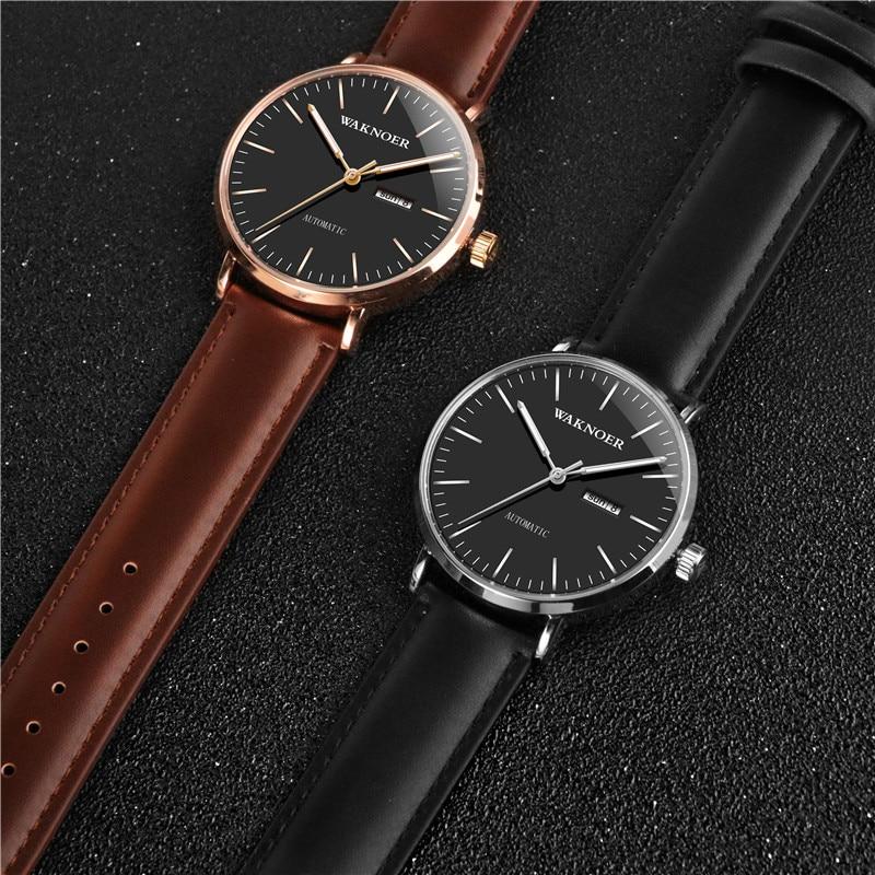 mecânicos automatictop marca luxo relógios de pulso design simples reloj