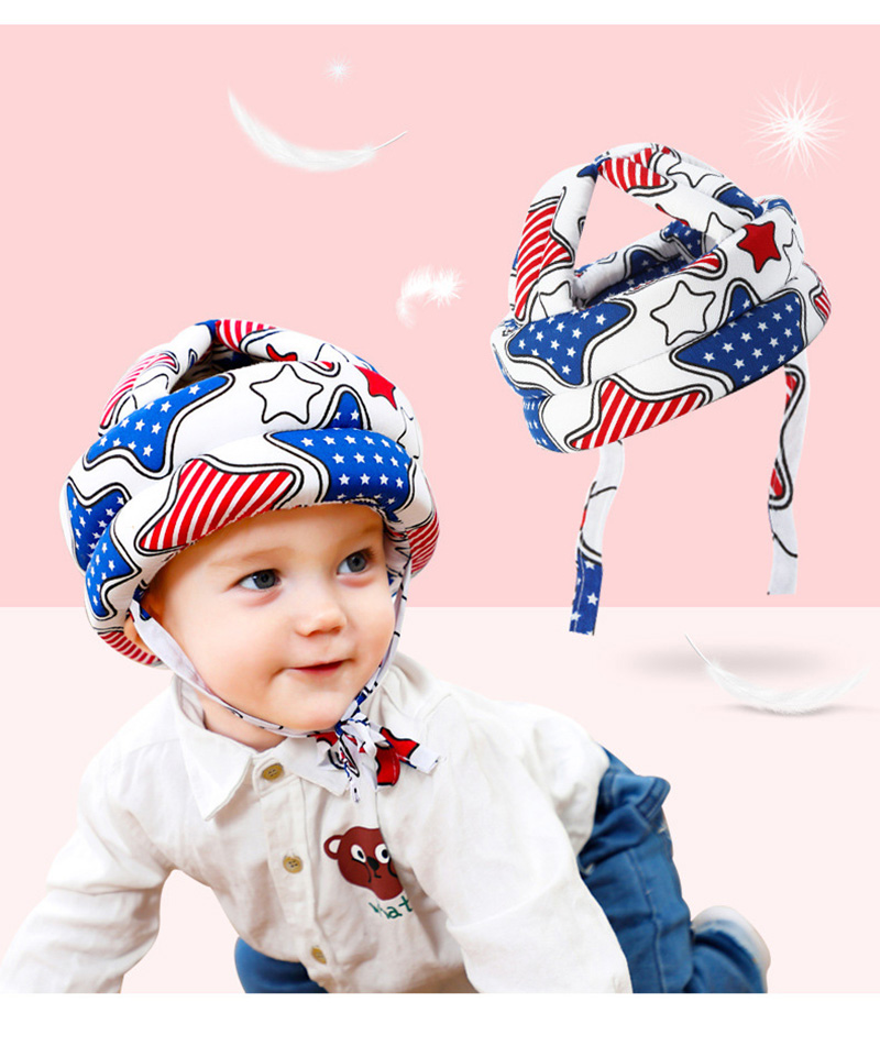 Adjustable Baby Hat Protective Anti-collision Safety Helmet Baby Cap Toddler Kids Hat for Girl Boy Accessories Cotton Mesh 6M-5Y 09