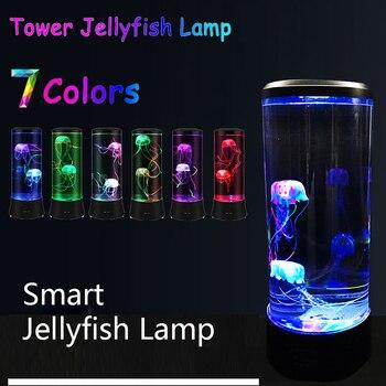 1 шт. большая медузная лампа светодиодная лампа для украшения дома ночной Светильник Медузы в аквариуме Светодиодная лампа