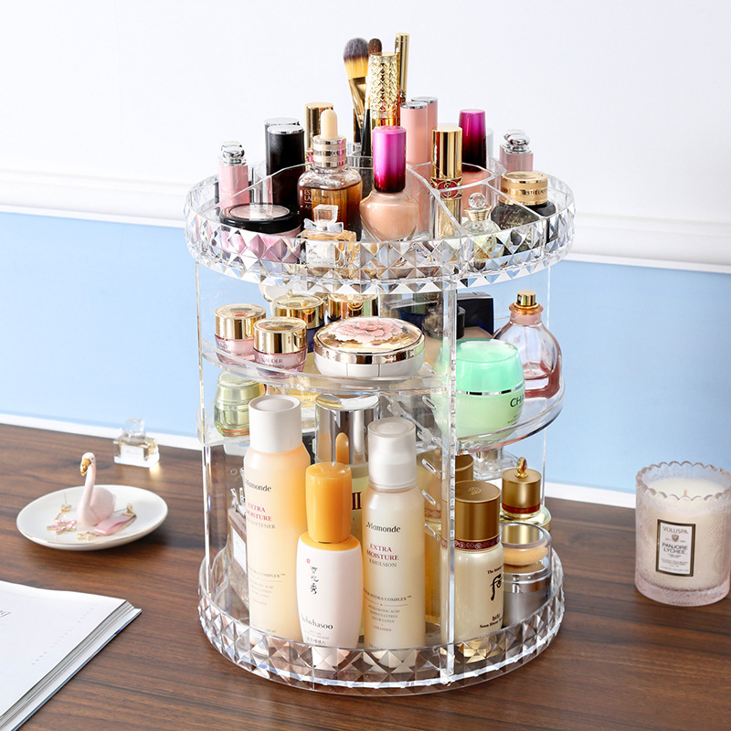 Christmas gift rotating cosmetics storage box lipstick skin care products desktop factory direct sales