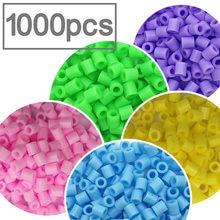 Cuentas perler PUPUKOU de 5mm para niños, abalorios de hierro perler pupupukou, cuentas de Hama para niños, rompecabezas artesanal de alta calidad, juguete de regalo hecho a mano, 1000 Uds.