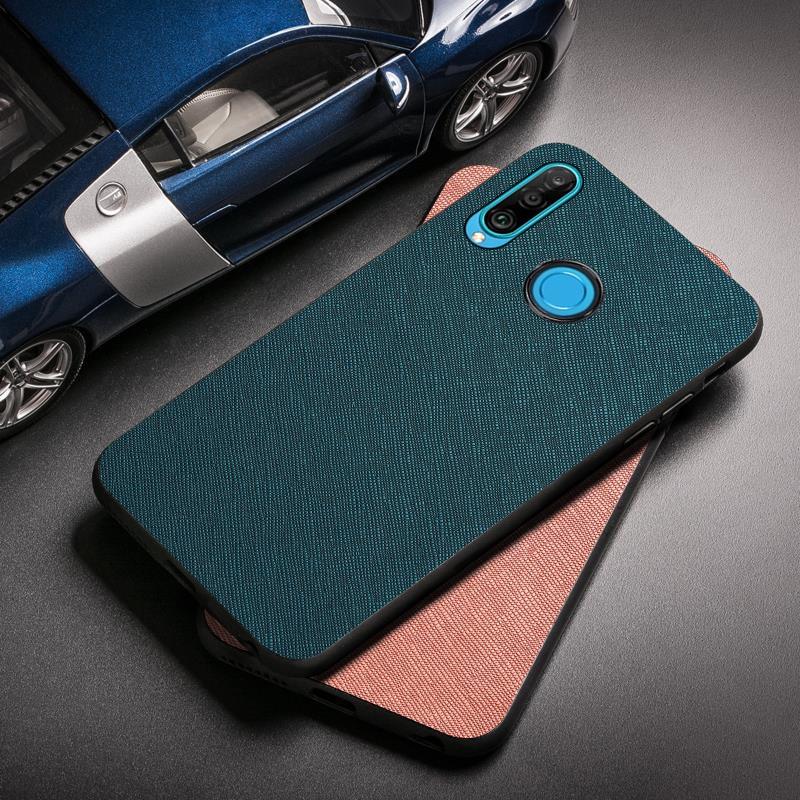 Cloth Fabric Case For Huawei P30 P40 Lite P20 Pro P10 PLUS P8 P9 Lite 2017 Case Silicon Huawei Y9 Y7 Y6 Y5 Prime 2019 2018 Cover