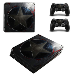 Image 5 - PS 4 Pro Marvel Skin Sticker Decal Vinyl for Sony Playstation 4 Pro Console and 2 Controllers for Ps4 Pro Slim Stickers Ps4pro