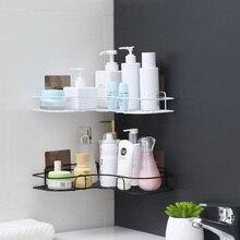 Storage-Rack Shampoo Kitchen-Accessories Metal-Corner Living-Room Bathroom Double-Layer