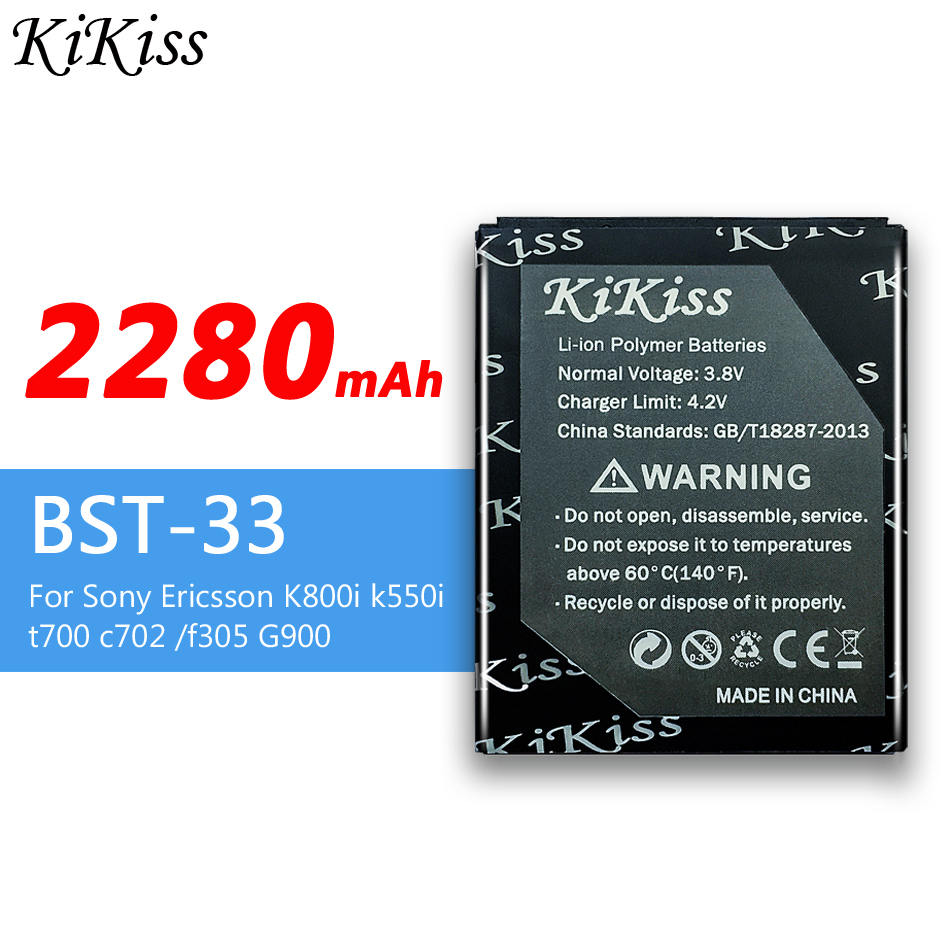 KiKiss BST-36 BST-33 Battery For <font><b>Sony</b></font> <font><b>Ericsson</b></font> W200 k510i z550i K800i <font><b>k550i</b></font> t700 BST 36/33 BA800 BA900 BA950 For Xperia TX V ZR image
