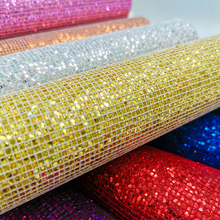 1pc 20cm*15cm Chunky Glitter Synthetic PU Leather Sheet Fabric Artificial Leather Faux Leather Diy Bows Craft Supplies