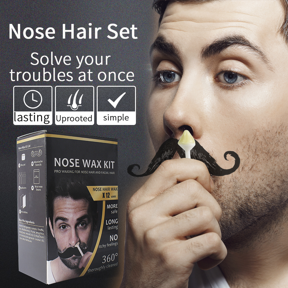 Men Portable Wax Kit Painless Beads For Nose Ear Hair Removal