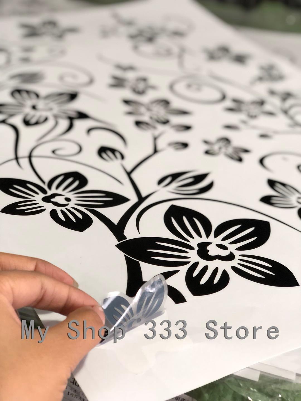 Hot DIY Wand Kunst Aufkleber Dekoration Mode Romantische Blume Wand Aufkleber/Wand Aufkleber Wohnkultur 3D Tapete Kostenloser Versand