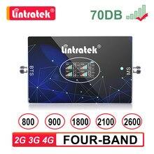 Четыре группы Сотовая связь Усилитель GSM 2G 3G 4G B20 LTE 800 900 1800 2100 2600 мобильный телефон 850 Усилитель сигнала 4G повторитель сигнала B7 2600 МГц Lintratek s6