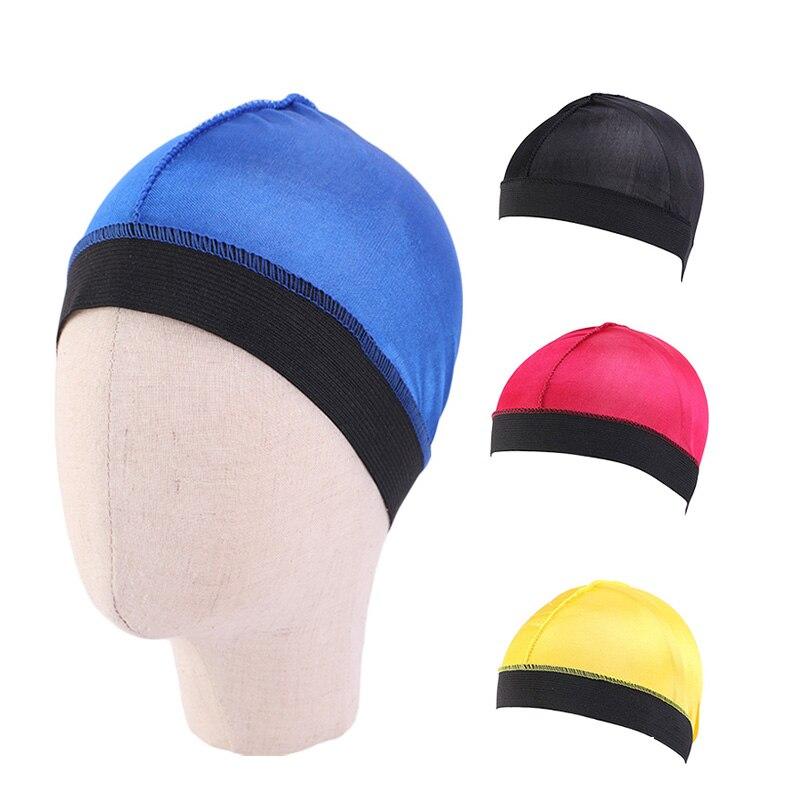 Шелковистая купольная волнистая шапочка для детей, однотонная Обложка для волос, шапочка для телефона, мягкая бандана для девочек, одежда, а...