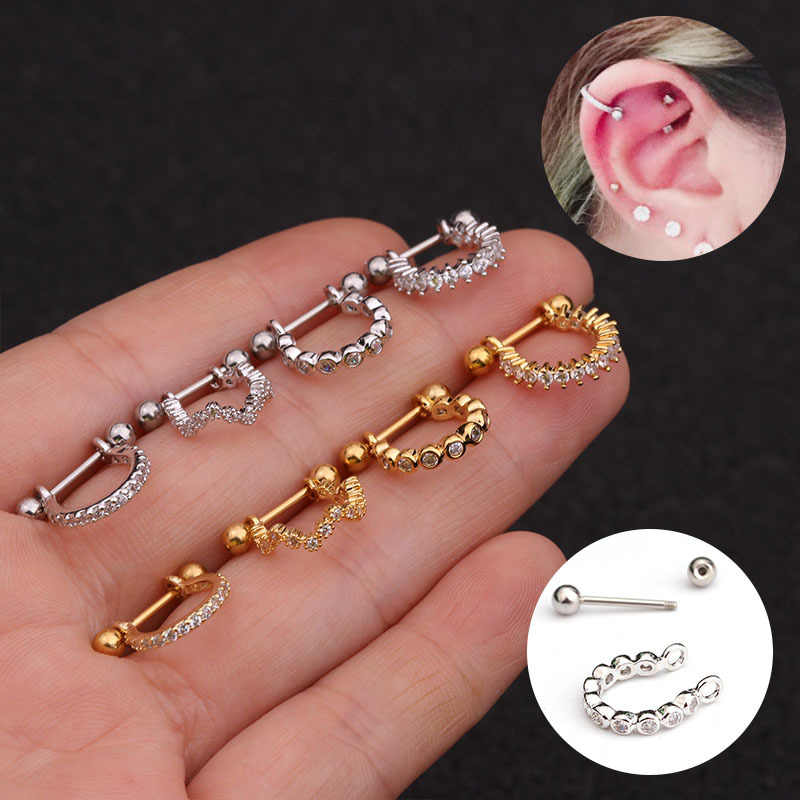 1pc Kleine Stud Ohrringe Frauen Knorpel Ohrring CZ Schmuck Dainty Nase Piercing Trendy Delicate Tiny Gold Silber Colo a029
