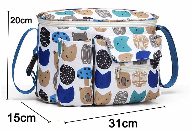 H20f1000606d84fb48743630bdd593b9bW SeckinDogan Baby Stroller Bag Large Capacity Diaper Bags Outdoor Travel Hanging Carriage Mommy Bag Infant Care Organizer