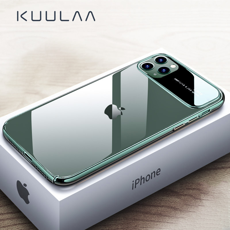 KUULAA For IPhone 11 Pro Max Case Luxury Mirror Glass Phone Case I Phone 11 ProMax Shockproof Back Cover For IPhone 11Pro Max