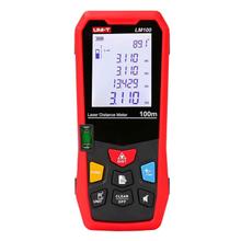 UNI-T LM100 Laser Rangefinder Digital Laser Distance Meter Laser Range Finder Tape Distance Measurer new uni t ut390b laser range finder distance meter area volume lcd meter 0 05m 45m
