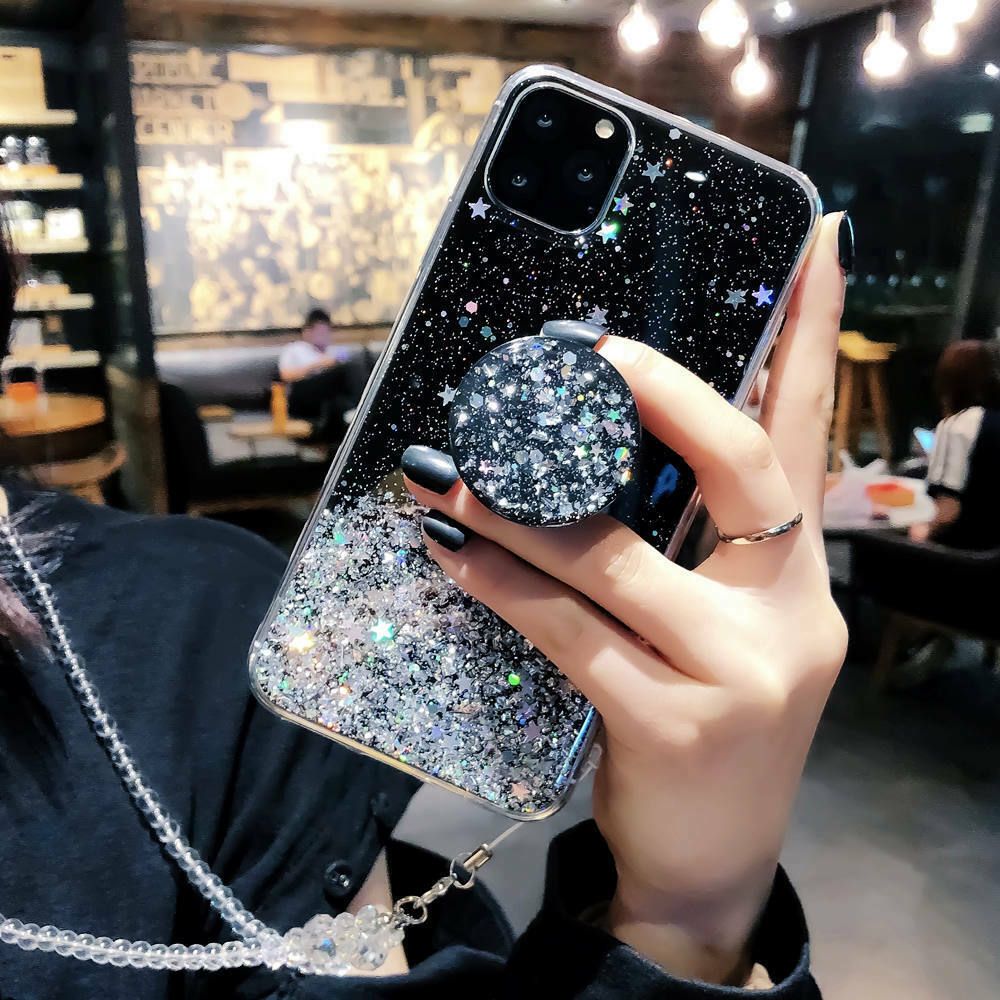 Bling Glitter Standing Case For iPhone Models Plus Slim Case With Stand Holder 13