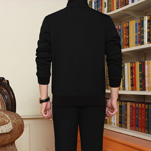 Image 5 - Mens Sportswear Two Piece Set 2020 Autumn New Casual Tracksuit Stand Zipper Gray Sweatshirt Sweatpant Survetement Homme
