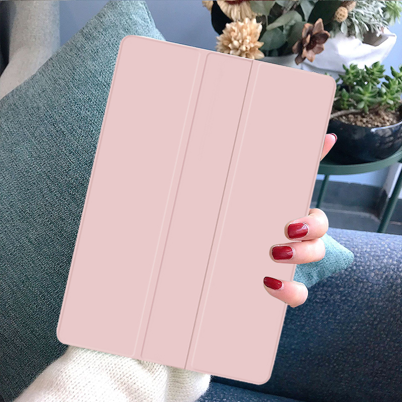 Rose Gold Yellow Funda iPad 7th Generation Case Tablet Pouch PU Leather Tri fold ebook Case For Apple iPad