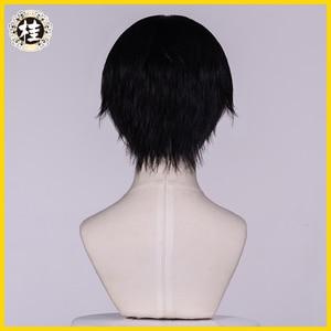 Image 2 - UWOWO tuvalet bağlı Hanako kun/Jibaku Shounen Hanako kun Cosplay peruk 25cm doğal siyah saç