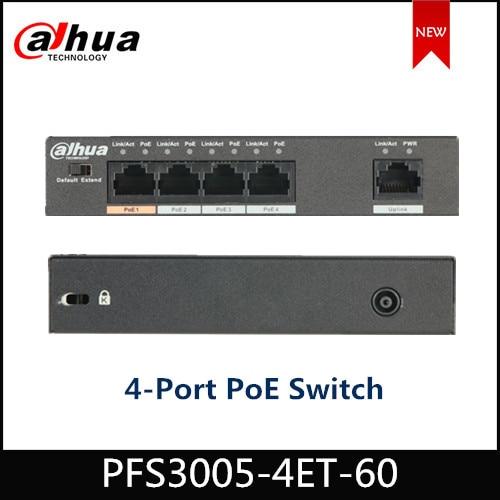 Dahua  PFS3005-4ET-60 4-Port PoE Switch (Unmanaged)