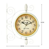 European style Classic Wall Clock Double Sided Vintage Retro Home Office Decor