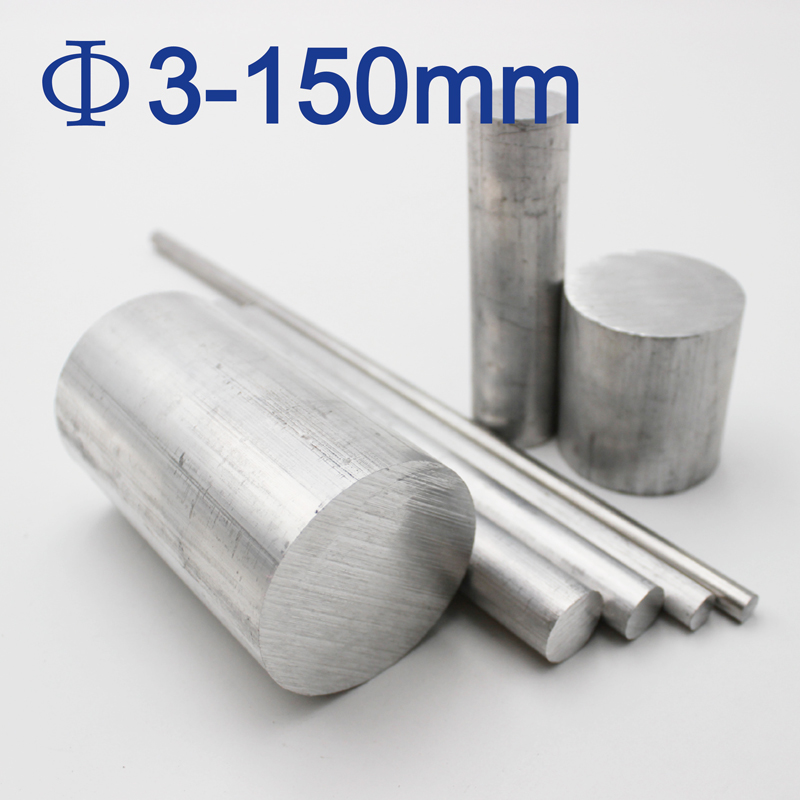 3mm 4mm 5mm 6mm 8mm 10mm 12mm 15mm 30mm 150mm Diameter 6061 Aluminum Rods Solid Metal Bars For Metalworking Long 50mm To 600mm