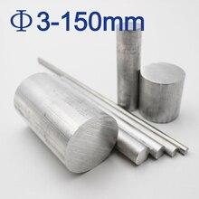 3mm 4mm 5mm 6mm 8mm 10mm 12mm 15mm 30mm 150mm diámetro 6061 barras de aluminio barras de metal sólido para metalurgia de largo 50mm a 600mm