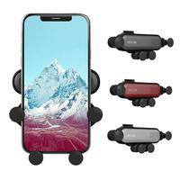 Soporte de teléfono para montaje en coche, conexión por gravedad, práctico, Universal, retráctil, con bloqueo automático y liberación