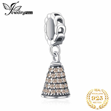 JewelryPalace Christmas Love Jingle Bell Cubic Zirconia Sterling Silver Charm Beads For Women 2018 New Hot Sale Beautiful Gift