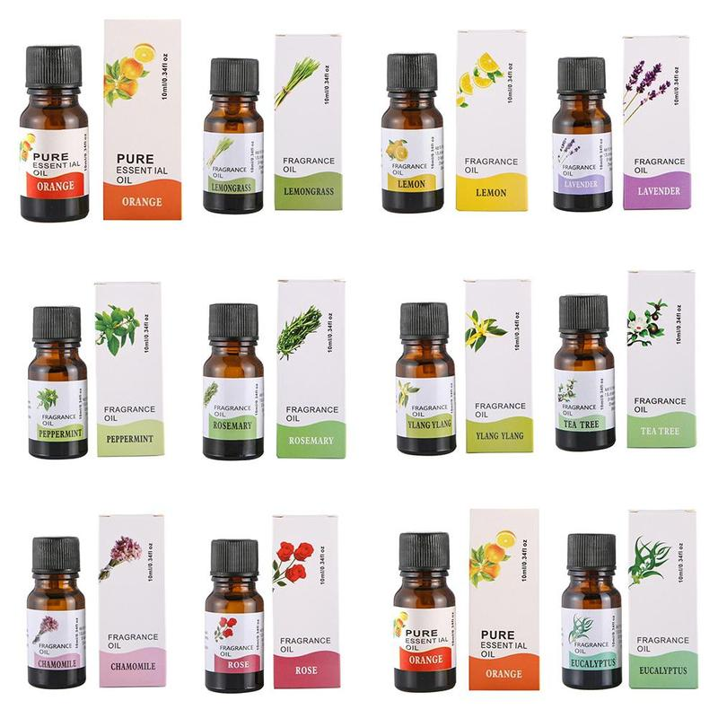 10ml 100% Pure Natural Essential Oils Carrier Oil Aromatherapy Grade Healthy Rosemary Eucalyptus Relax Fragrance Oil Diffuser