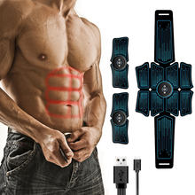 Buikspier Stimulator Fitness Apparatuur Elektrostimulatie Abs Spierstimulator Ems Abdominale Usb Training Gear Home Gym(China)