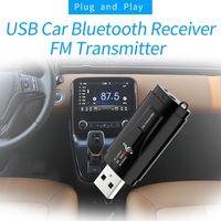 fm משדר USB לרכב 5.0 Bluetooth מתאם מקלט FM מתאם אלחוטי משדר (4)